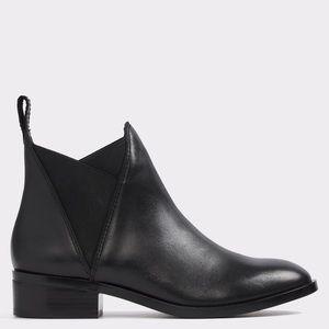 ALDO SCOTCH BLACK CHELSEA ANKLE BOOTS